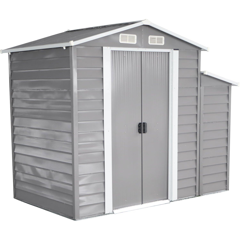 bestMart Inc 8 x5 cobertizo gran patio al aire libre jardín garaje herramienta Kit construcción cálido gris: Amazon.es: Jardín