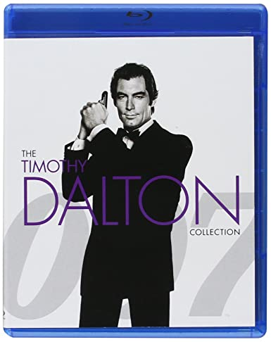 "Timothy Dalton as James Bond in ""GoldenEye"", ""Tomorrow Never Dies"", ""The World Is Not Enough"", and ""Skyfall"""