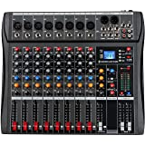 Depusheng DX8 Professional Mixer Sound Board Console 8 Channel Desk System Interface Digital USB MP3 Input 48V Phantom Power