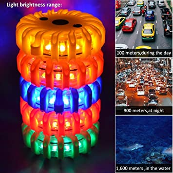 for Road Traffic accidents Car Flashing Beacons NOTENS Rechargeable Strobe Car Safety Warning Road Flares Emergency SOS LED Lights with Magnetic Base Road /& Water Hazards Breakdowns