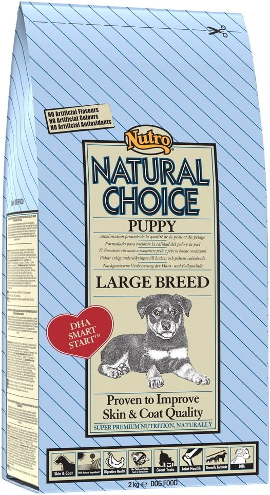 NUTRO - Pienso para Perros Raza Grande Natural Choice Puppy Pollo y arroz: Amazon.es: Productos para mascotas