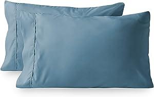 Bare Home Premium 1800 Ultra-Soft Microfiber Pillowcase Set - Double Brushed - Easy Care (King Pillowcase Set of 2, Coronet Blue)