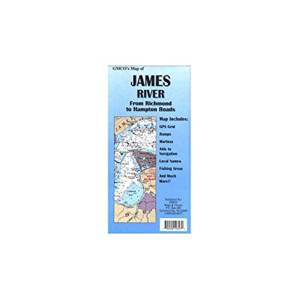 James River Us Map.Amazon Com Gmco 10307 James River Map Boating Equipment Sports