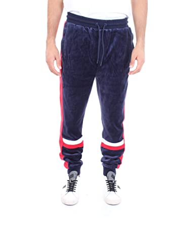 Fila Uomo Pantaloni Sportivi Silvano Velour, Blu: Amazon.it