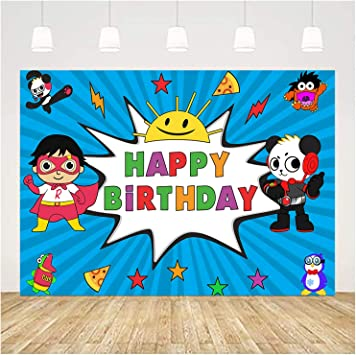 10X5FT-Happy Birthday Cartoon Children Cakes Photography Backdrops Wood Decoration Photo Studio Background