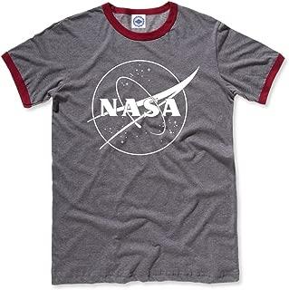 product image for Hank Player U.S.A. NASA 1 Color Logo Men's Ringer T-Shirt