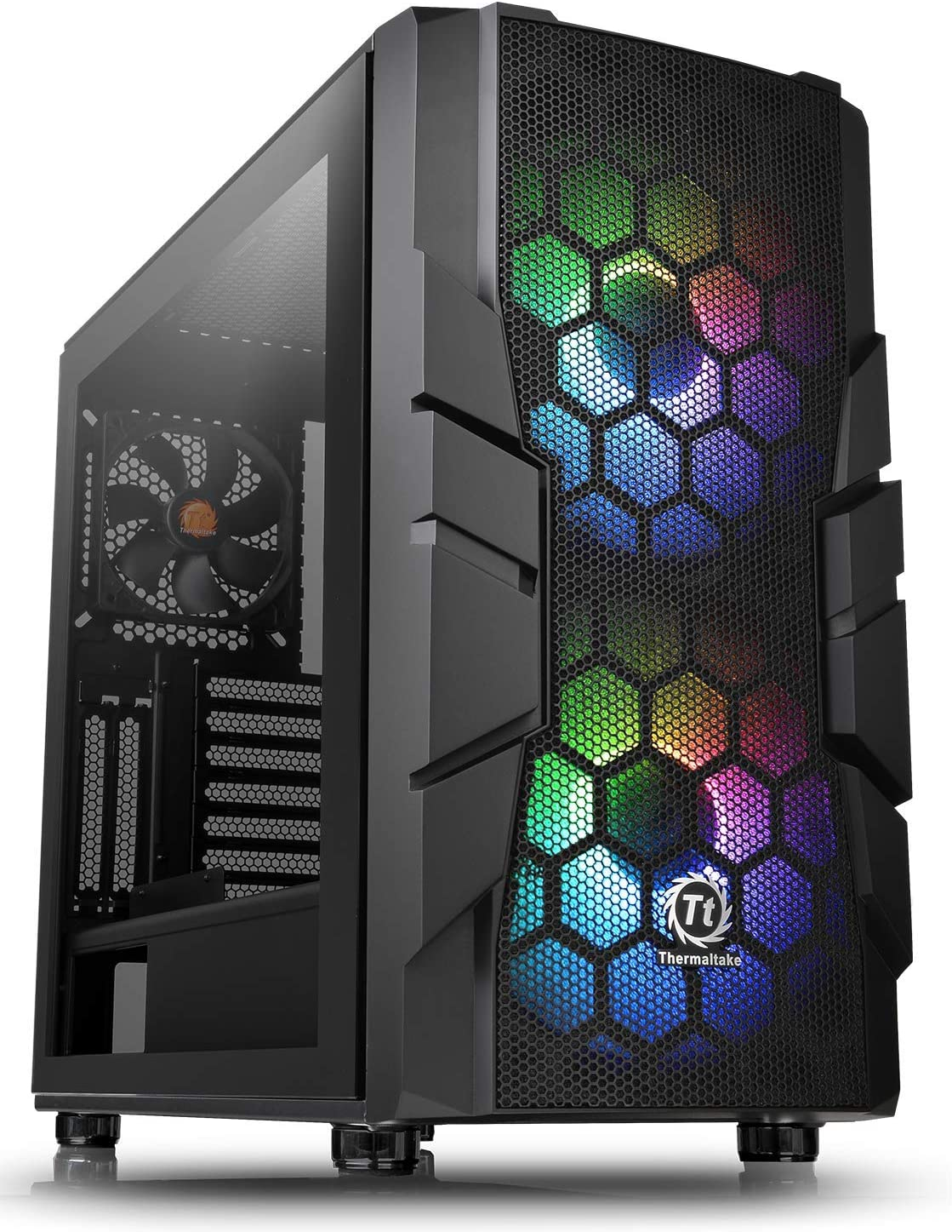 Thermaltake Commander C33 Motherboard Sync ARGB ATX Mid Tower Computer Chassis with 2 200mm ARGB 5V Motherboard Sync RGB Front Fans + 1 120mm Rear Black Fan Pre-Installed CA-1N4-00M1WN-00