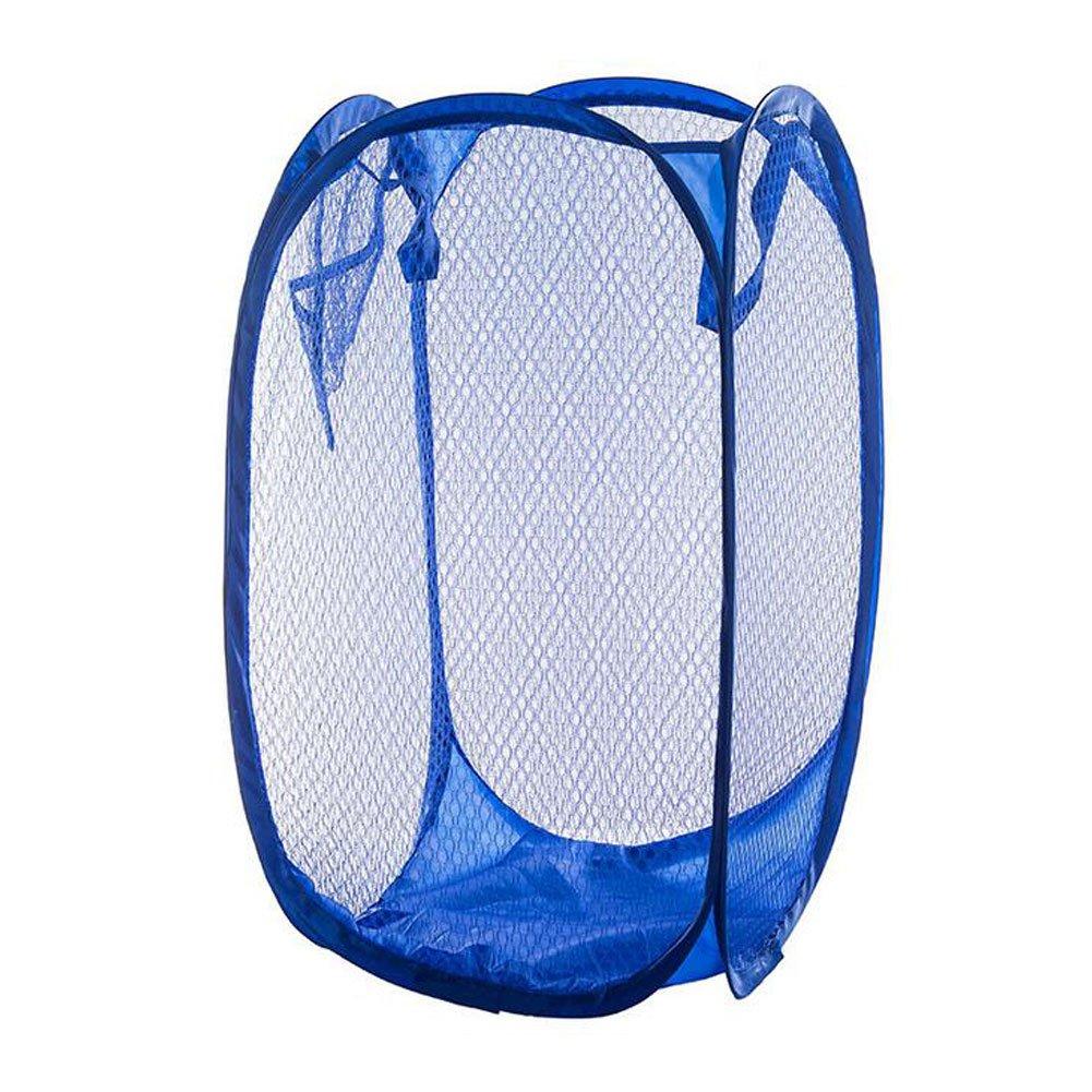5a3eeaf5af3d Yuccer Mesh Popup Laundry Hamper Bags, Foldable Dirty Clothes Hamper Basket  for Home Travel Storage Organizer 10.23/10.23/19 Inches (Blue 2)