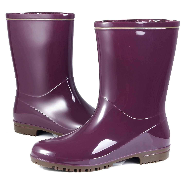 AgeeMi Shoes Mujer Botas Altas Agua Goma Seguridad