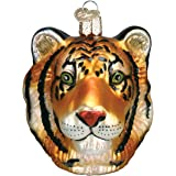 Old World Christmas Tiger Head Glass Blown Ornament