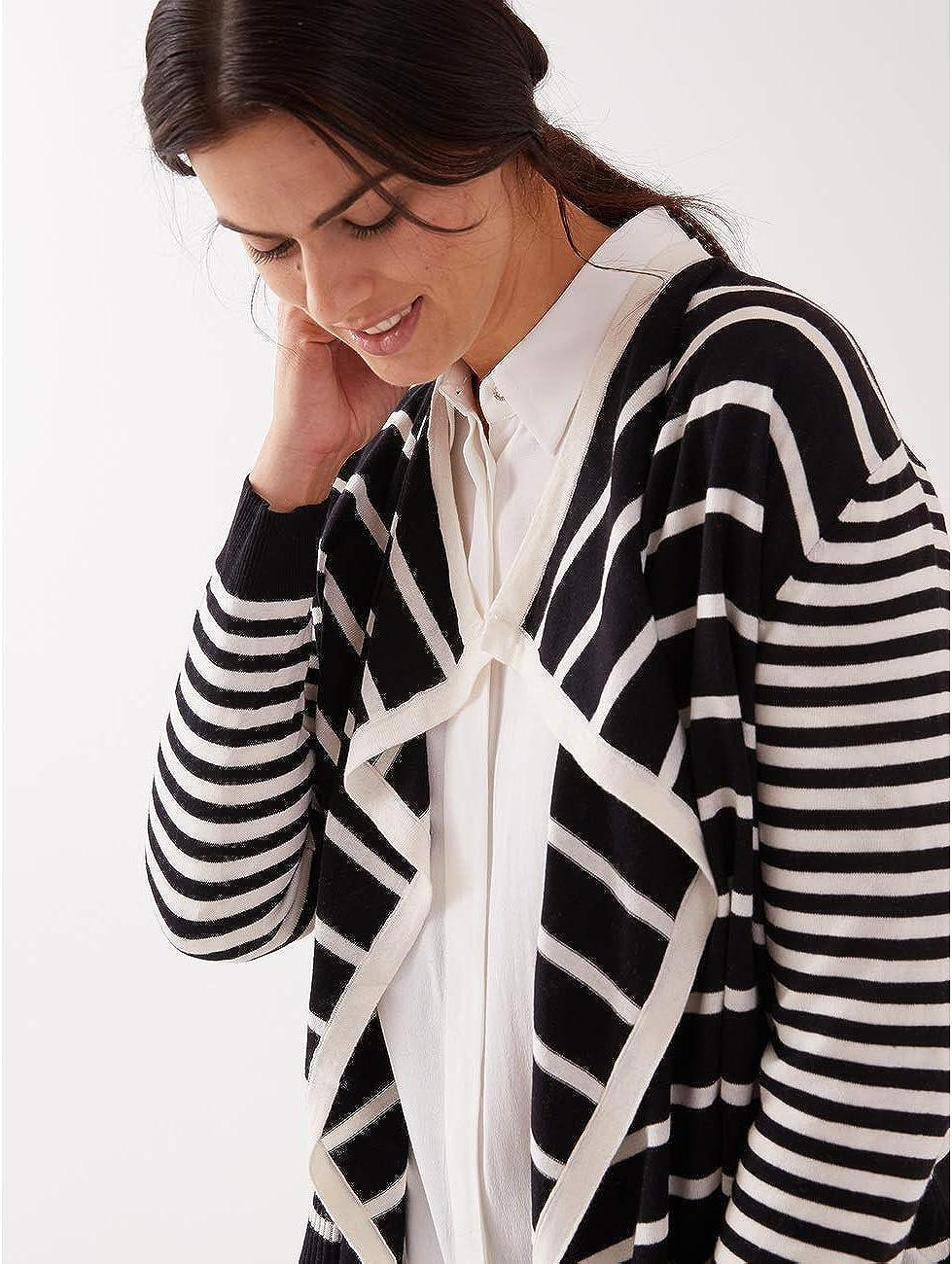 Fiorella Rubino Italian Plus Size Cardigan a Righe