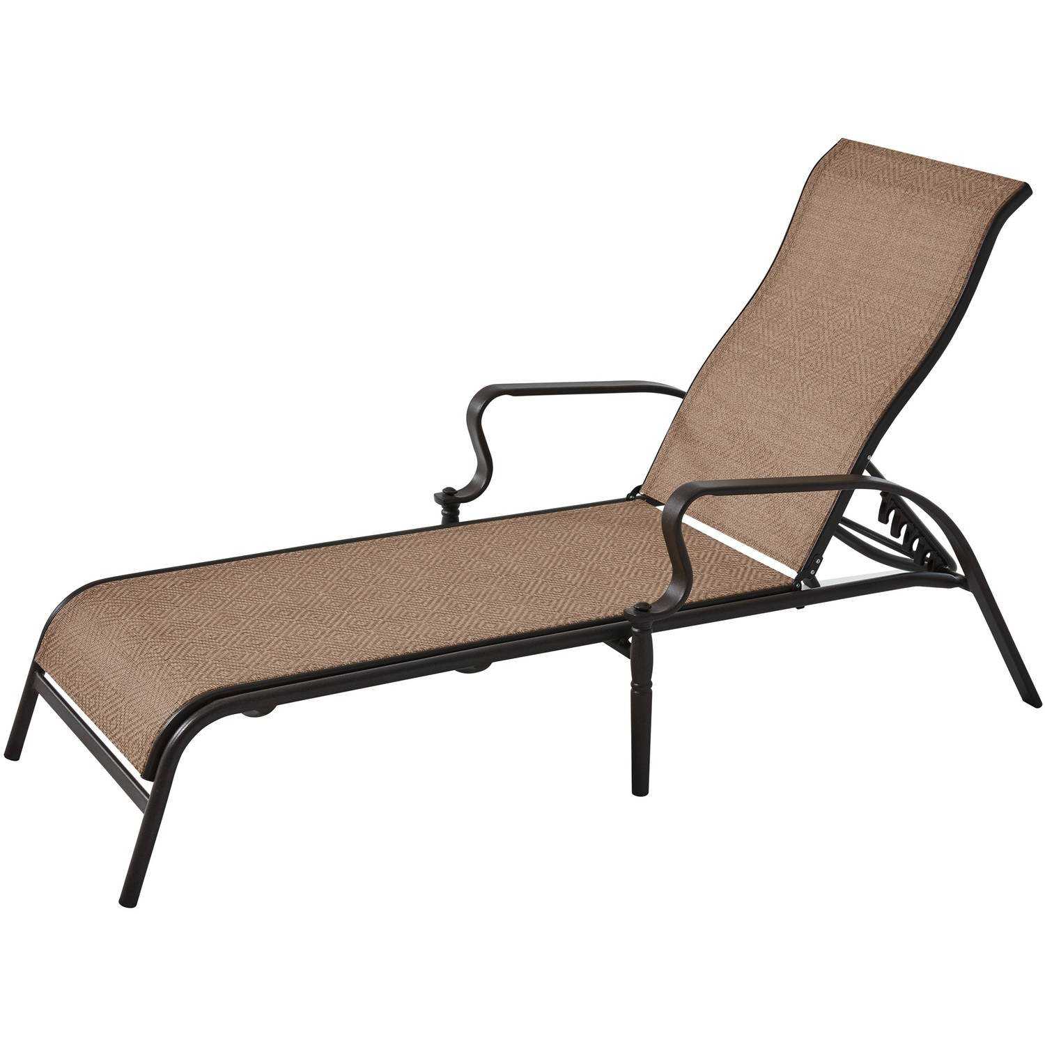Mainstay Wesley Creek Outdoor Sling Chaise Lounge Brown