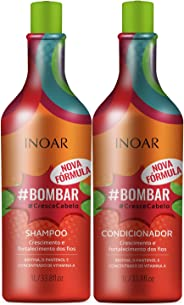 Kit Shampoo e Condicionador Bombar Crescimento Capilar, Inoar, 1L