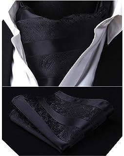 Enlision Mens Check Plaid Ascot Jacquard Woven Cravat Tie