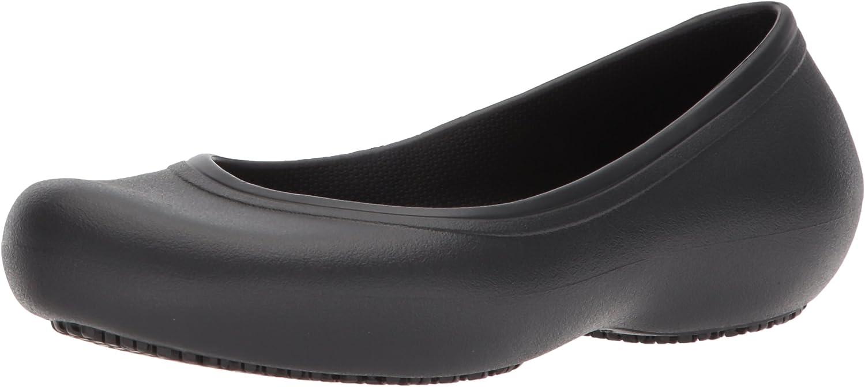 Crocs Women's Crocs At Work Flat | Women's Flats | Work Shoes for Women