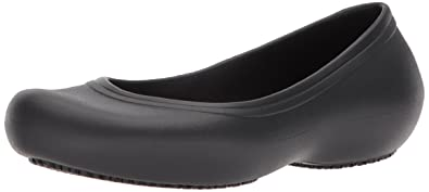 a0e814db40b9b6 Amazon.com  Crocs Women s Crocs at Work Slip Resistant Flat