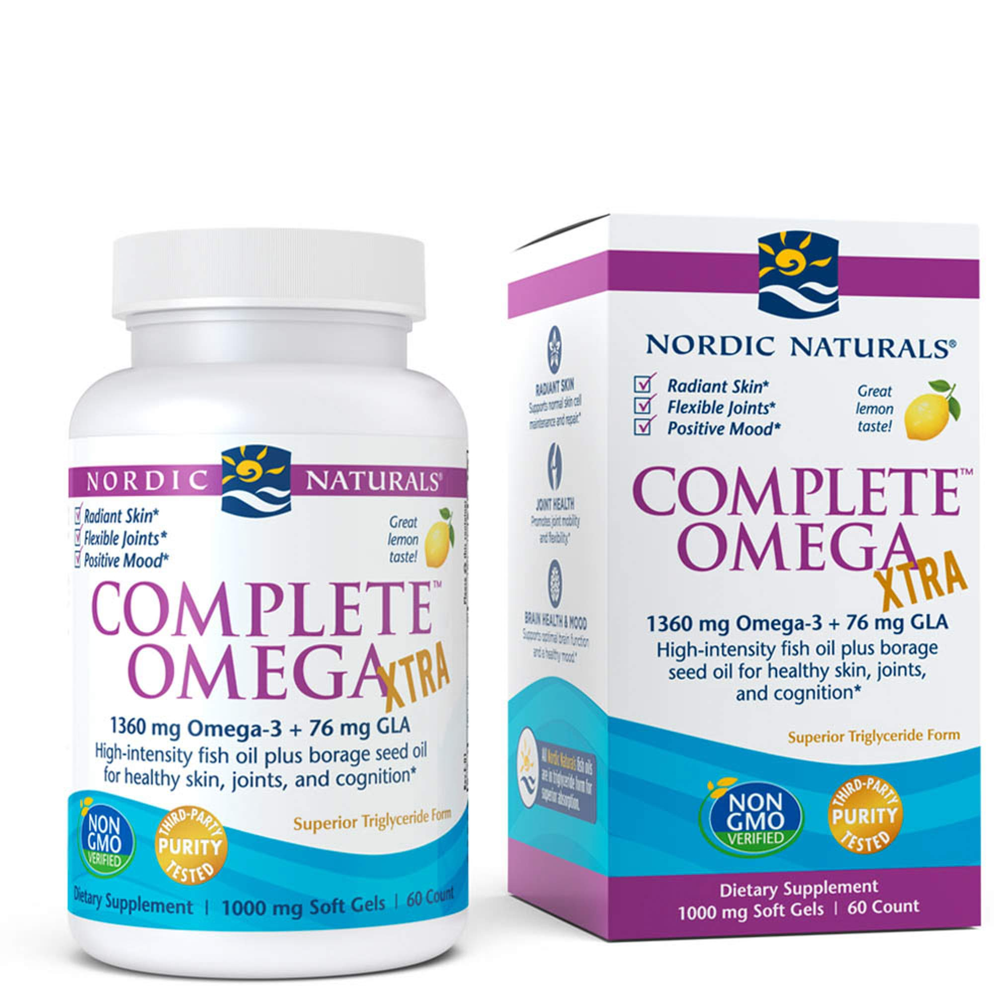Nordic Naturals - Complete Omega Xtra, Optimal Support for Brain, Skin, Bones, and Joints, 60 Soft Gels (FFP) by Nordic Naturals