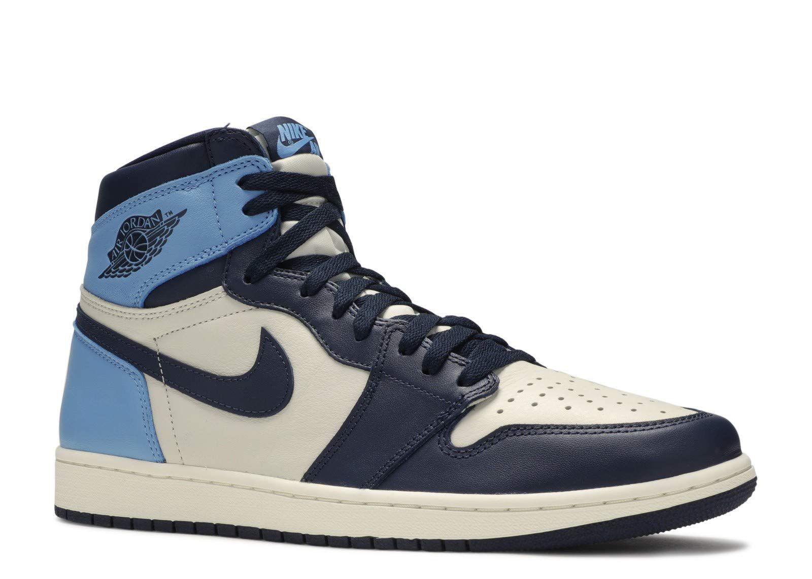Jordan Air 1 Retro High Og (Sail/Obsidian-University Blue 11.5) by Jordan