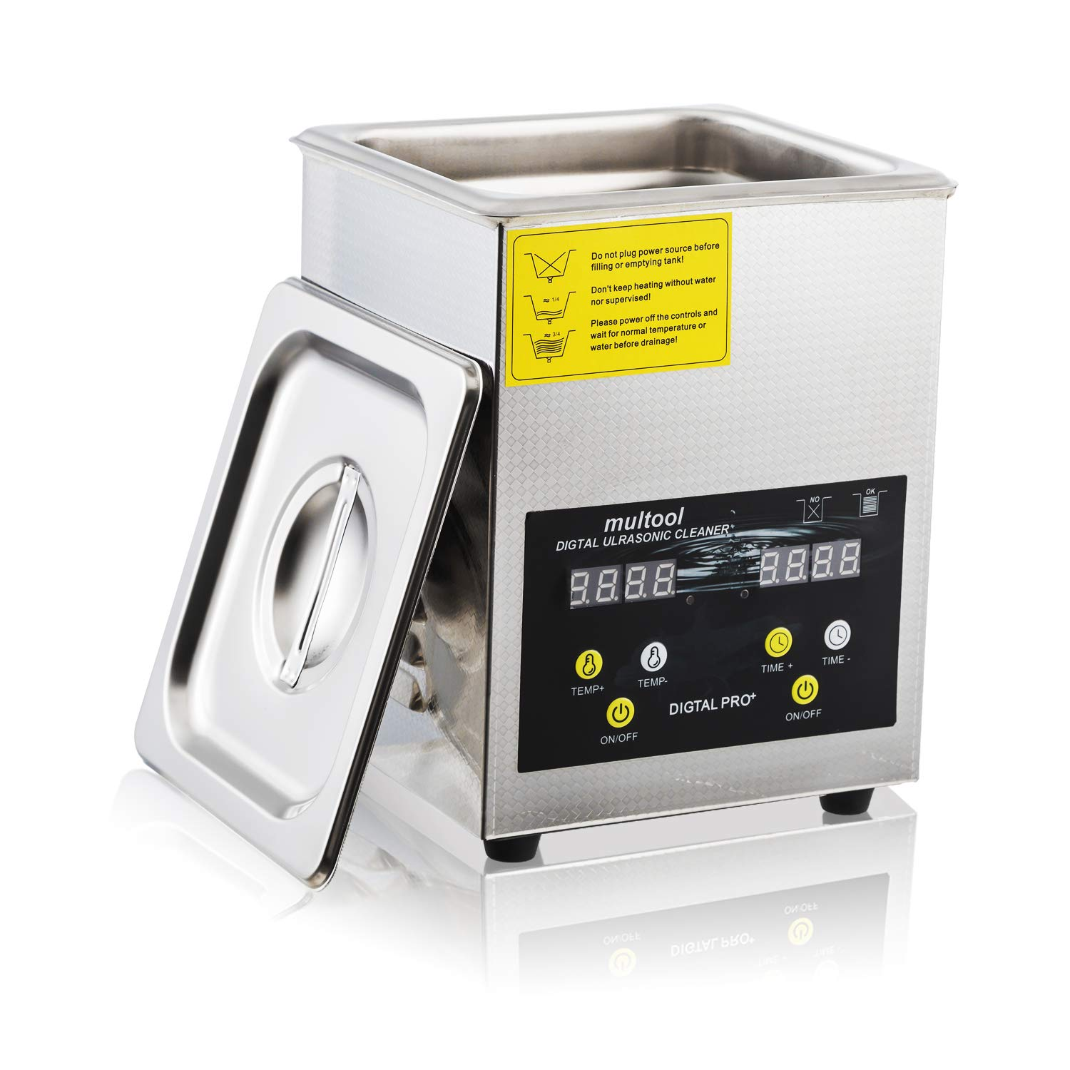 Ultrasonic Jewelry Cleaner with Digital Timer Heater for Eyeglasses Rings Coins