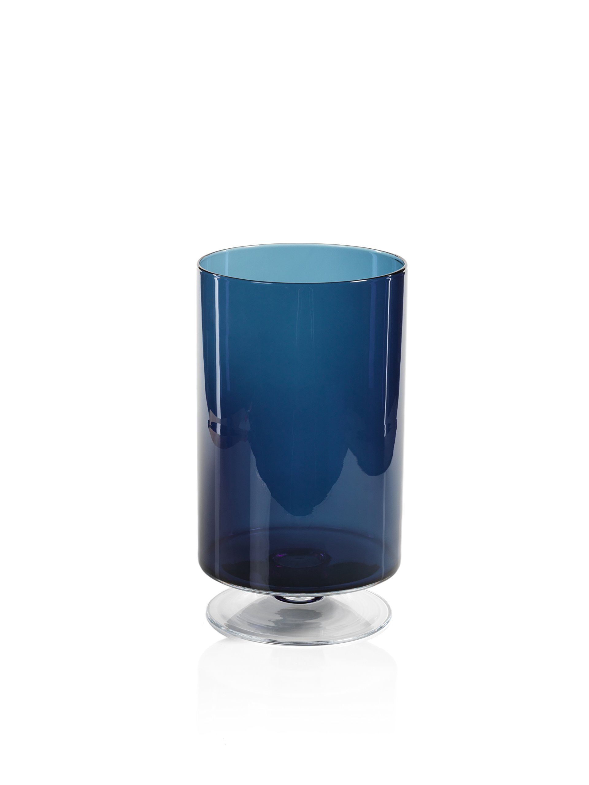 Zodax'' Algarve 13.5'' Tall Footed Base, Midnight Blue Hurricane
