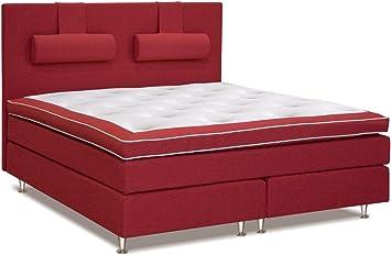 Cama con somier cama 200 x 200 cm rojo: Amazon.es: Bricolaje ...