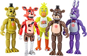 Unbrannded Featured by Five Nights at Freddys | Action Figures Toy Set of 5 PCS | 6 inches | Toy Dolls for All Kids | Christmas Toys Gifts