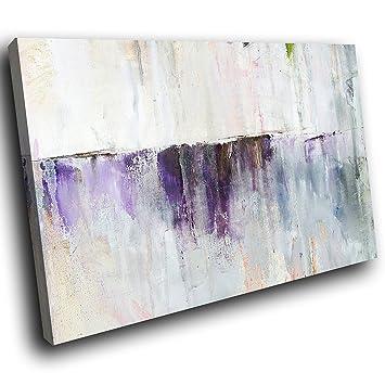 AAB1430D Gerahmte Leinwanddruck Bunte Wandkunst   Lila Tropfölfarbe .