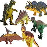 Pixnor Dinosauro 6pcs Set Tyrannosaurus Stegosaurus Triceratops Utahraptor Spinosaurus pterosauro modello bambini giocattolo