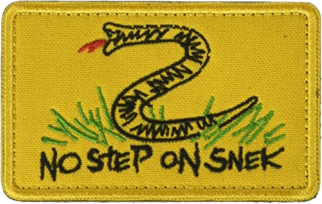 No Step on Snek Hook and Loop Patch