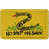 No Step On Snek, Embroidered Patch Funny Tactical Embroidered Badge Hook Loop Tactical Patch