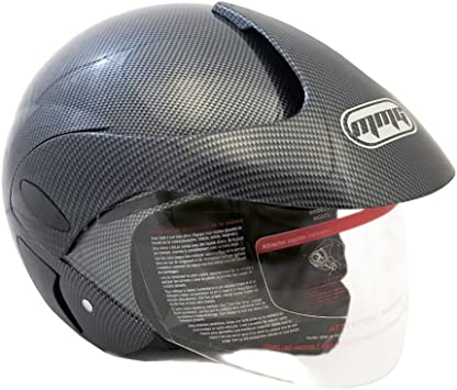 MMG Motorcycle Open Face Helmet DOT Street Legal XXL Matte Black 203 Flip Up Clear Visor