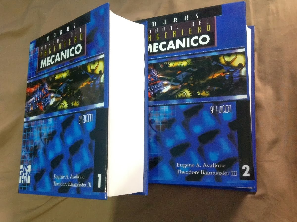 Manual Del Ingeniero Mecanico, Marks, 2 Tomos: AVALLONE A. EUGENE MARKS: 9789701006924: Amazon.com: Books