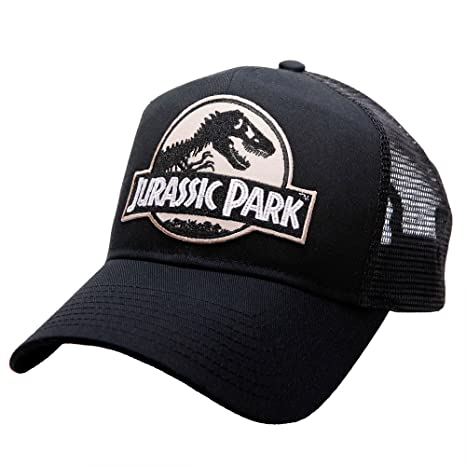 Image Unavailable. Image not available for. Color  Project T Jurassic Park  Movie Desert camo Logo Sci Fi Patch Trucker mesh Black caps Hats 107f7ab7b607