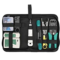 Network Tool Repair Kit, YEESON Ethernet LAN Network Cable Tester Computer Maintenance Coax Crimper Tool for RJ-45/11/12…