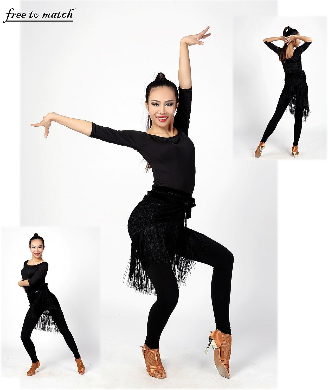 SCGGINTTANZ G4030 Professionnel de Danse de Salon Latin Le Pantalon Stretch