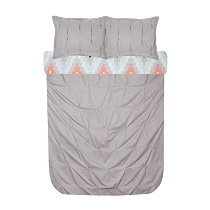 Charmant Blissliving Home Harper Duvet Set King, Grey