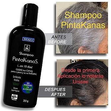 1 Shampoo Pintakanas Unisex Harta De Las Canas Con Solo Bañarte Pinta Las Canas Ya Que Nunca Fue Tan Fácil Sin Peróxido Ni Amoniaco