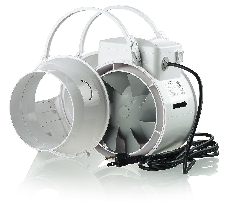 Plastic case 4 146 CFM VENTS TT Silent 100 Inline Mixed-Flow Fan