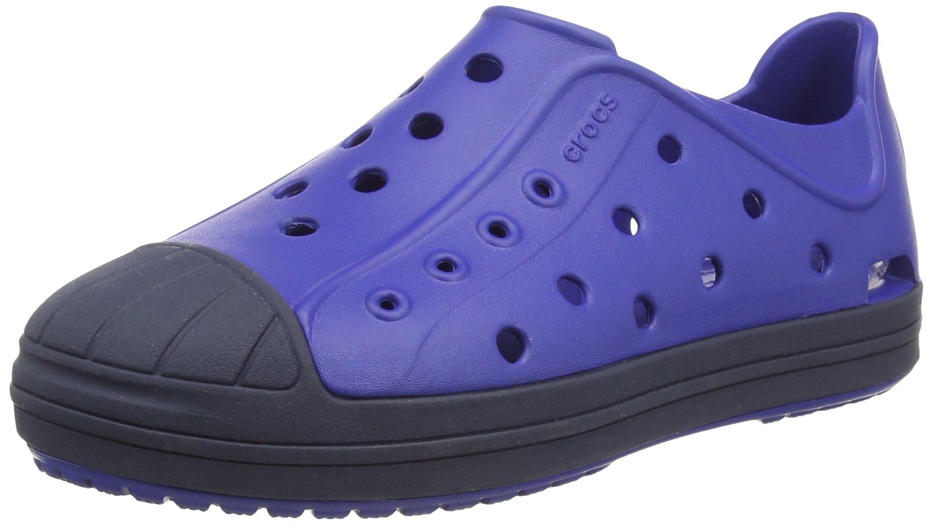 crocs Kids' Bump It Shoe (Toddler/Little Kid), Cerulean Blue/Navy, 13 M US Little Kid