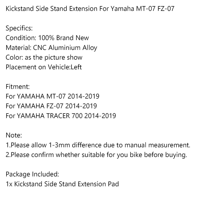 cavalletto laterale per Yamaha MT07 FZ07 TRACER 700 2014-2019 Artudatech Supporto laterale per moto