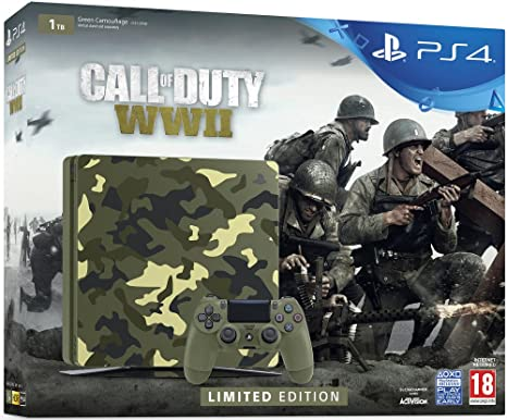 Pack Nouvelle PS4 1To Camo Design + Call of Duty World War II ...