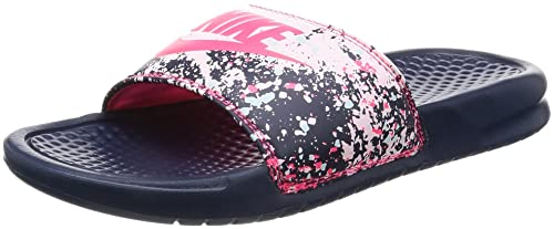 best service b7a48 7107d Nike Women s Benassi Just Do It. Sandal Midnight Navy Racer Pink Glacier  Blue