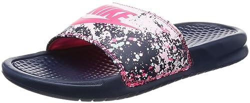 best service b7a48 7107d Nike Women s Benassi Just Do It. Sandal Midnight Navy Racer Pink Glacier  Blue