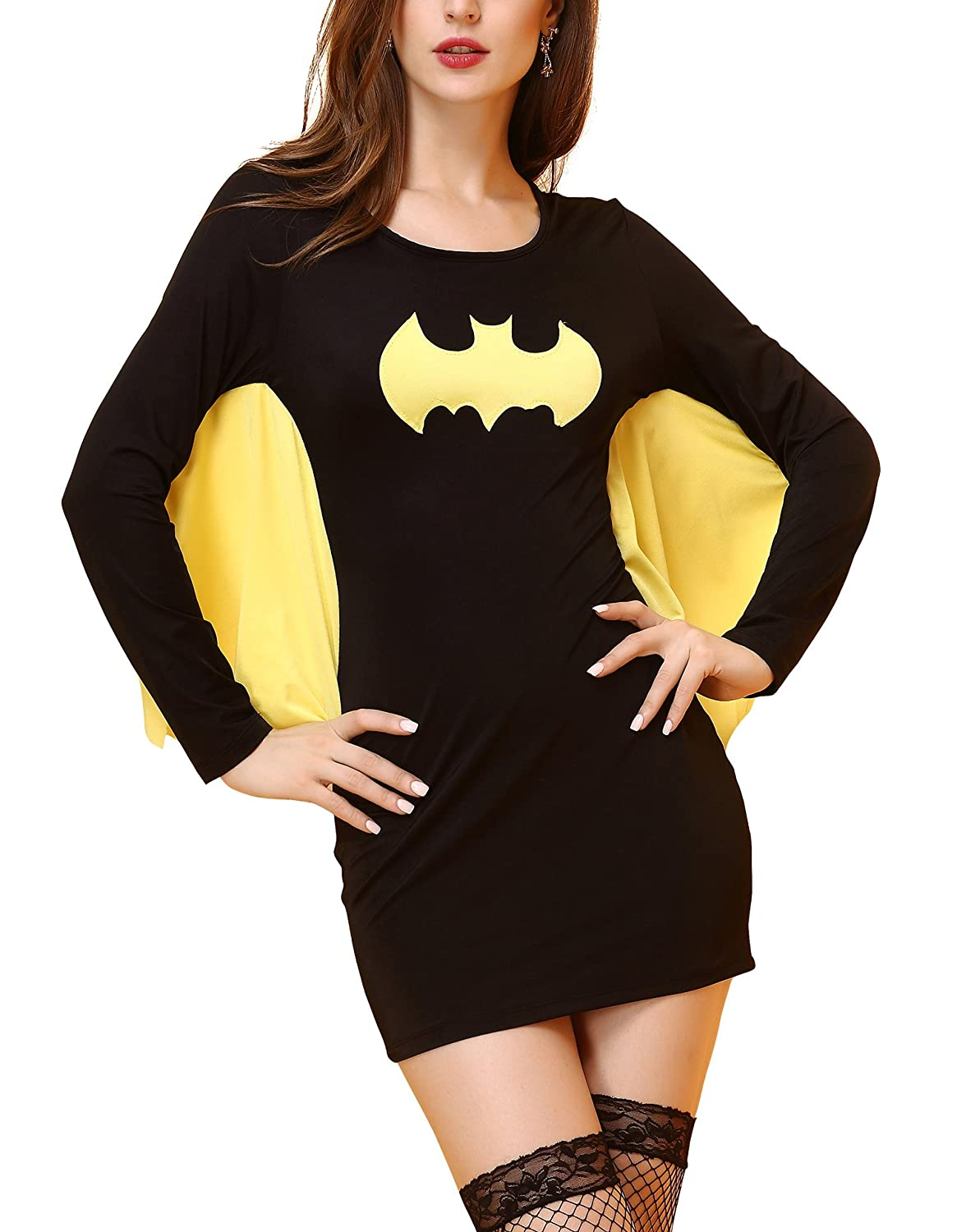 Deargirl Women's Bat Costumes Batman Sexy Hero Batgirl Adult Costume