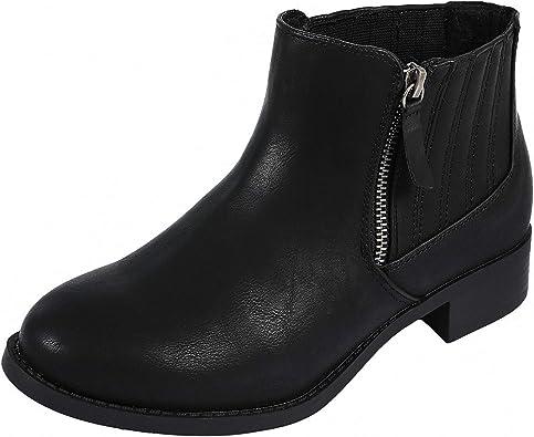 Luoika Women's Wide Width Ankle Booties