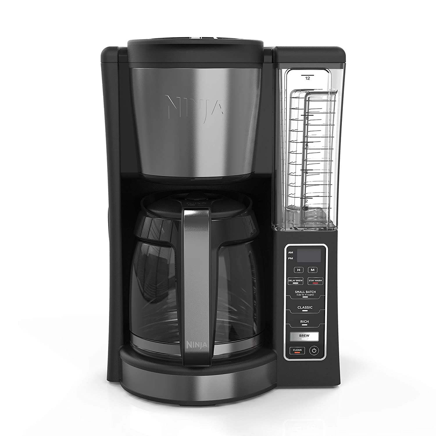 Ninja CE200 12 Cup Programmable Coffee Maker with 60 Ounce Reservoir and Thermal Flavor Extraction, Black (Certified Refurbished)