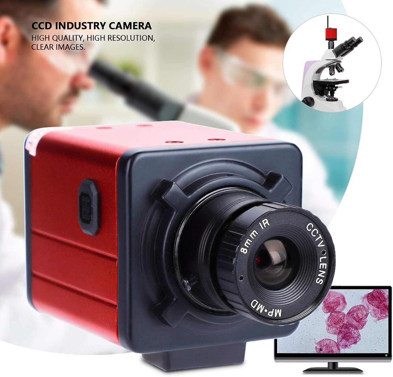 Semiter Us Plug 100-240v 1200 Tvl C-Mount Industry Camera Hd Av//tv Microscope Video Recorder Ccd for Industrial Testing Machine Vision Etc.