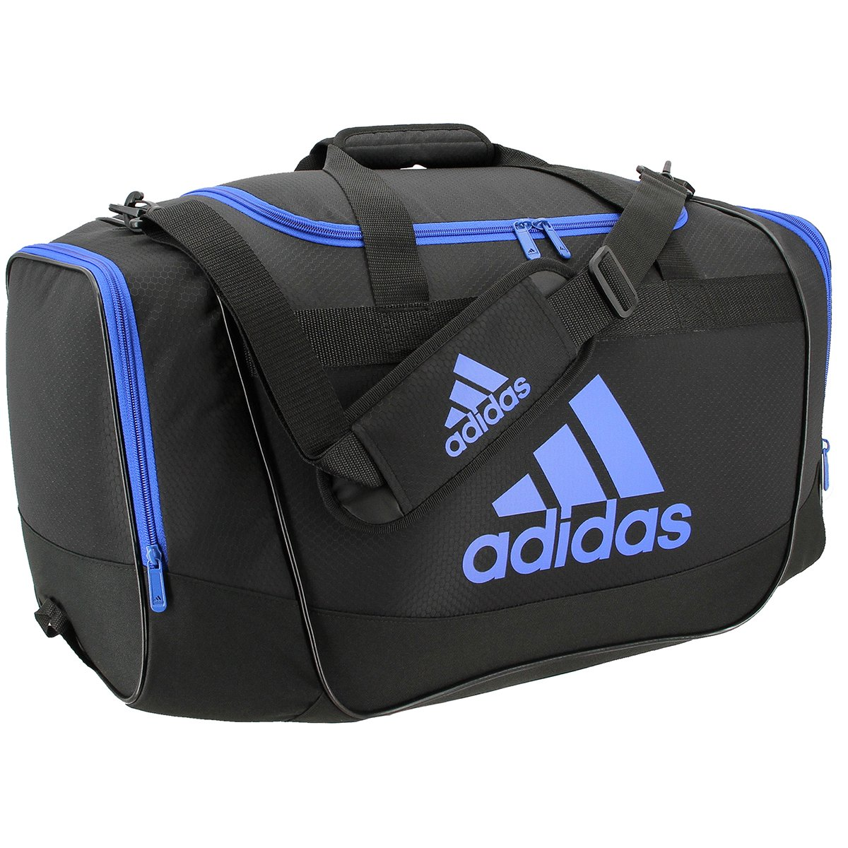 efb6e64e4 Adidas Defender II Medium Duffel Bag, Medium, Black/Blue: Amazon.com.mx:  Deportes y Aire Libre