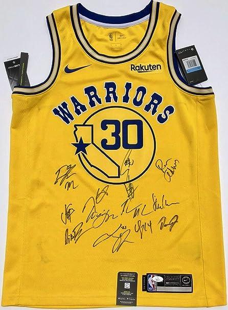 hot sale online 72b0c c9baf 2018-19 Golden State Warriors Team Autographed Signed ...