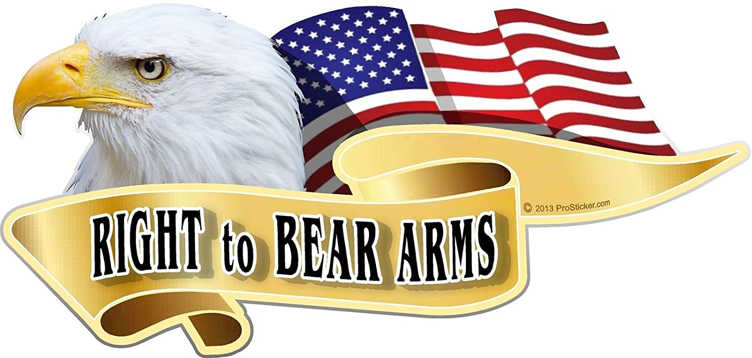 3 X 6 American Pride Series Right to Bear Arms Bald Eagle Decal Sticker One ProSticker 986